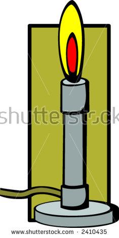 Bunsen Burner Stock Vector Illustration 2410435 : Shutterstock.