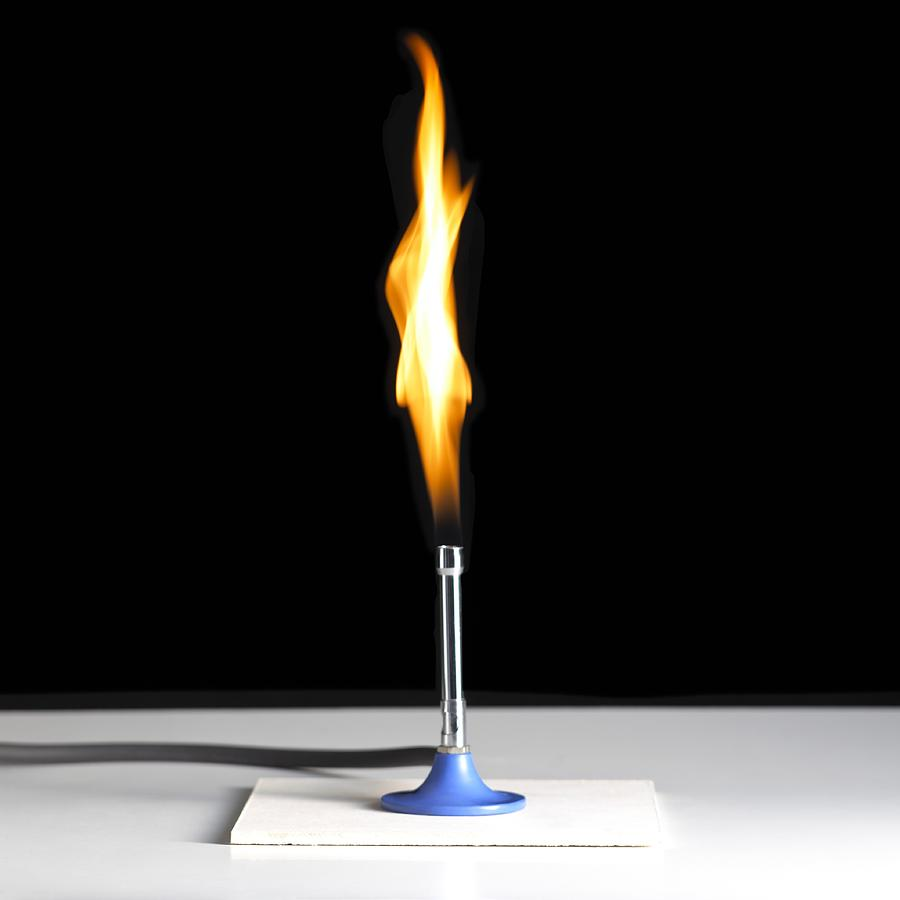 Bunsen burner. Heat source for experiments..