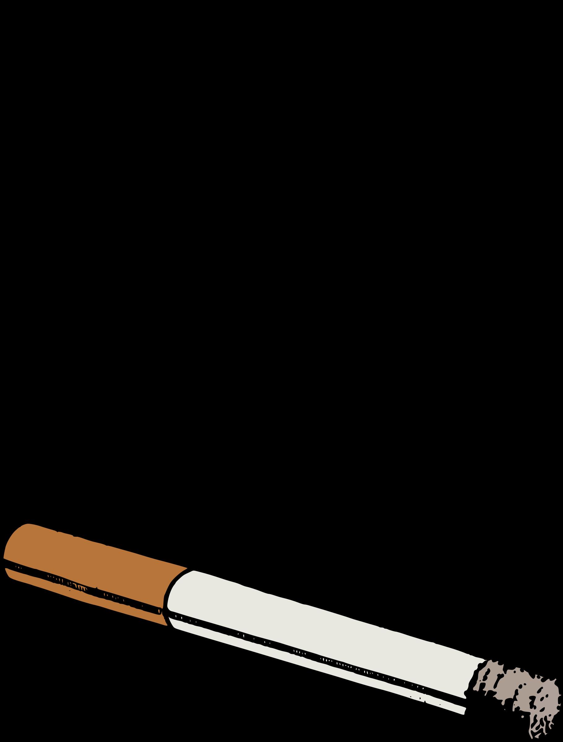 Burning Cigarette Clip Art #1371.