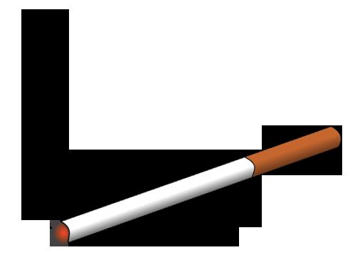 Lit Cigarette Clip Art , royalty #1387.