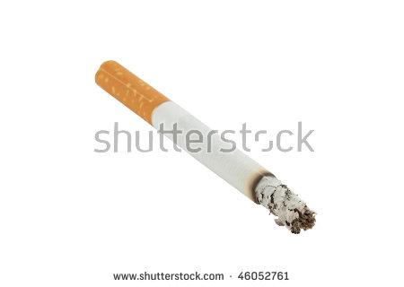 Lit Cigarette Stock Images, Royalty.