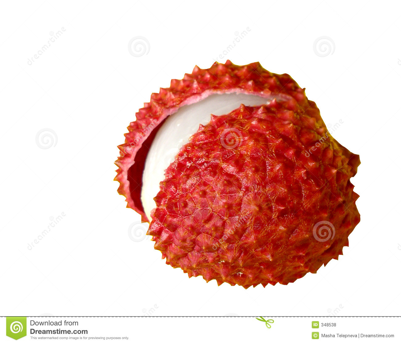 Litchi Chinensis (lychee) Royalty Free Stock Photos.