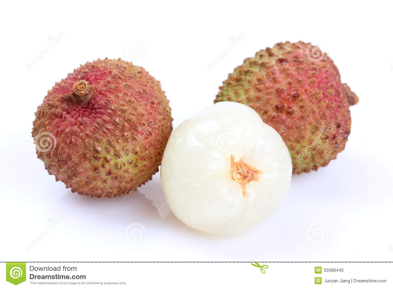 The Lychee (Litchi Chinensis) Fruit Stock Photo.