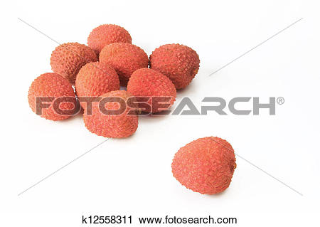 Stock Photography of Lychee fruits (Litchi chinensis) k12558311.