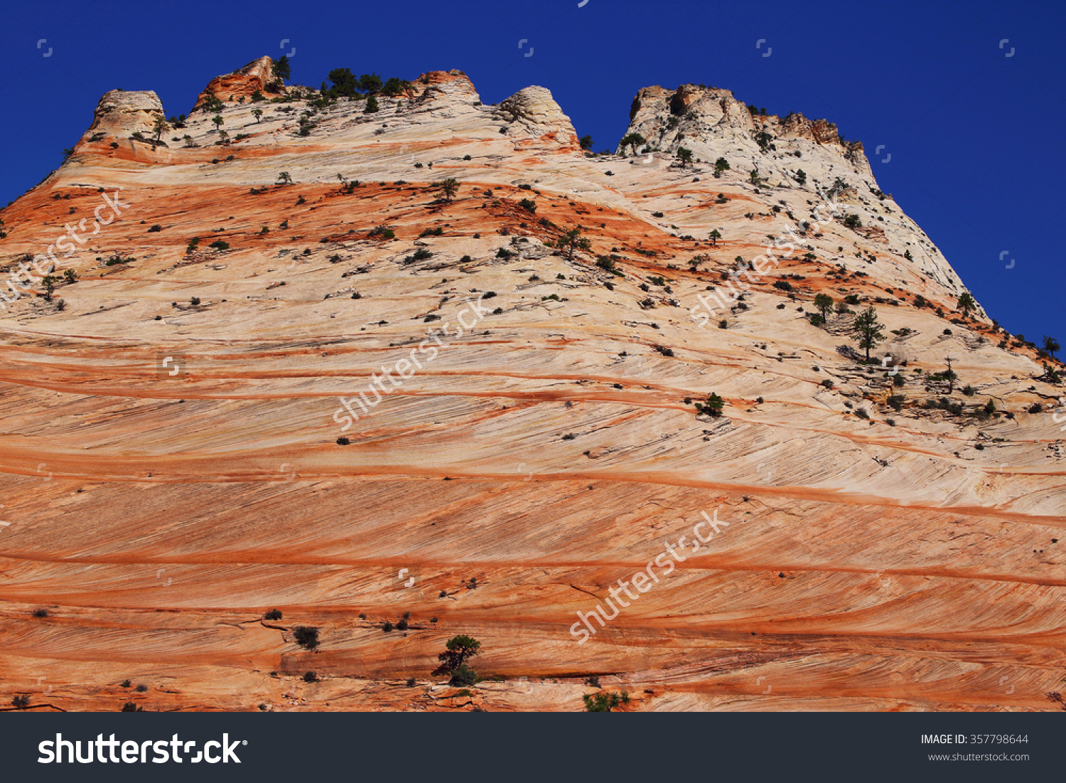 Lithified Desert Sand Dune Deposits Navajo Stock Photo 357798644.
