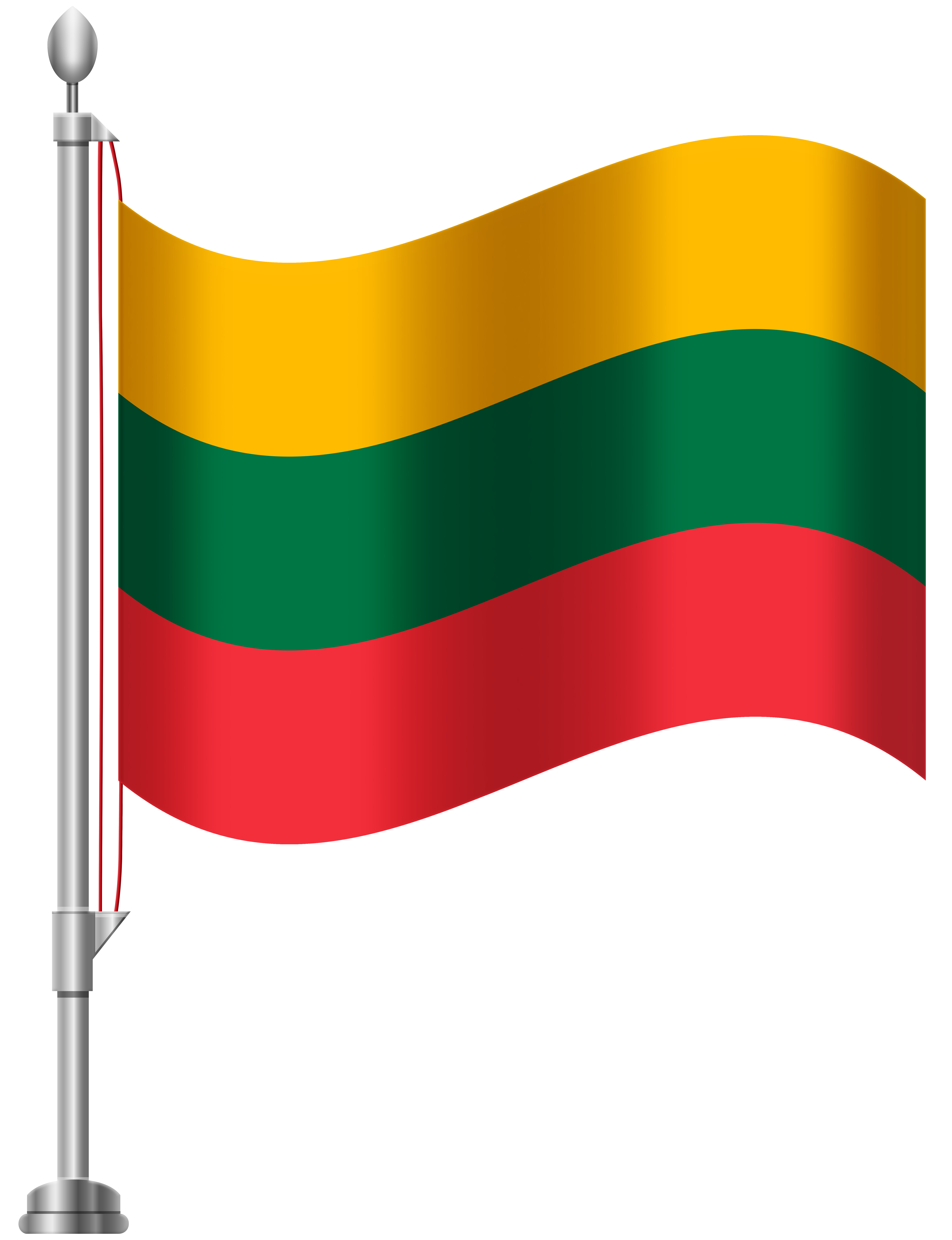 Lithuania Flag PNG Clip Art.