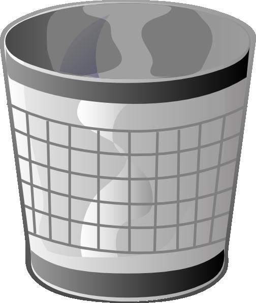 Empty Trash Bin Clip Art at Clker.com.