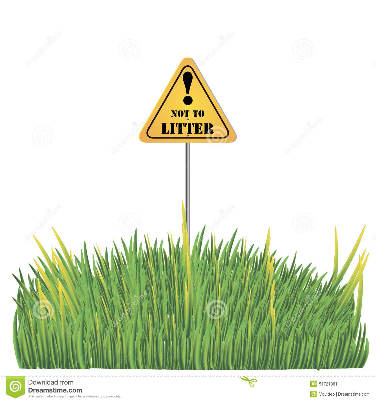Do Not Litter Sign Stock Illustrations.