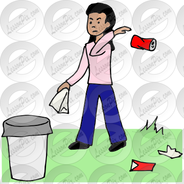 Littering Picture for Classroom / Therapy Use.