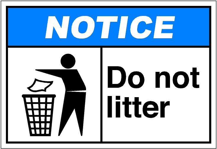 No Littering Clipart.