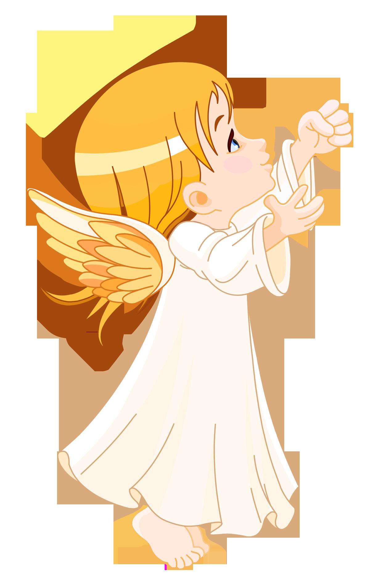 Cute Little Angel Large Size PNG Clipart.
