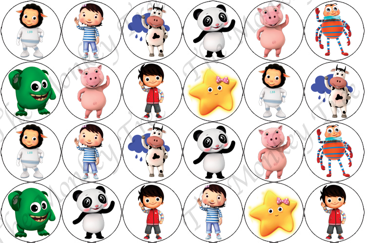 Little Baby Bum Edible Cupcake Toppers.