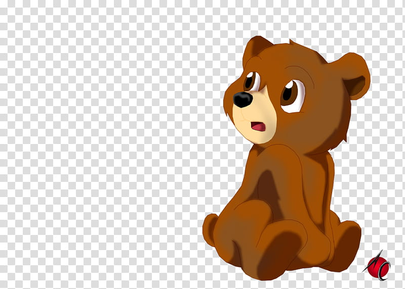 Little Bear, brown bear illustration transparent background.