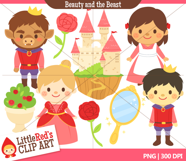 Beauty and the Beast Clip Art.