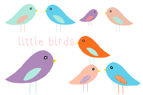 Cute little bird clipart.