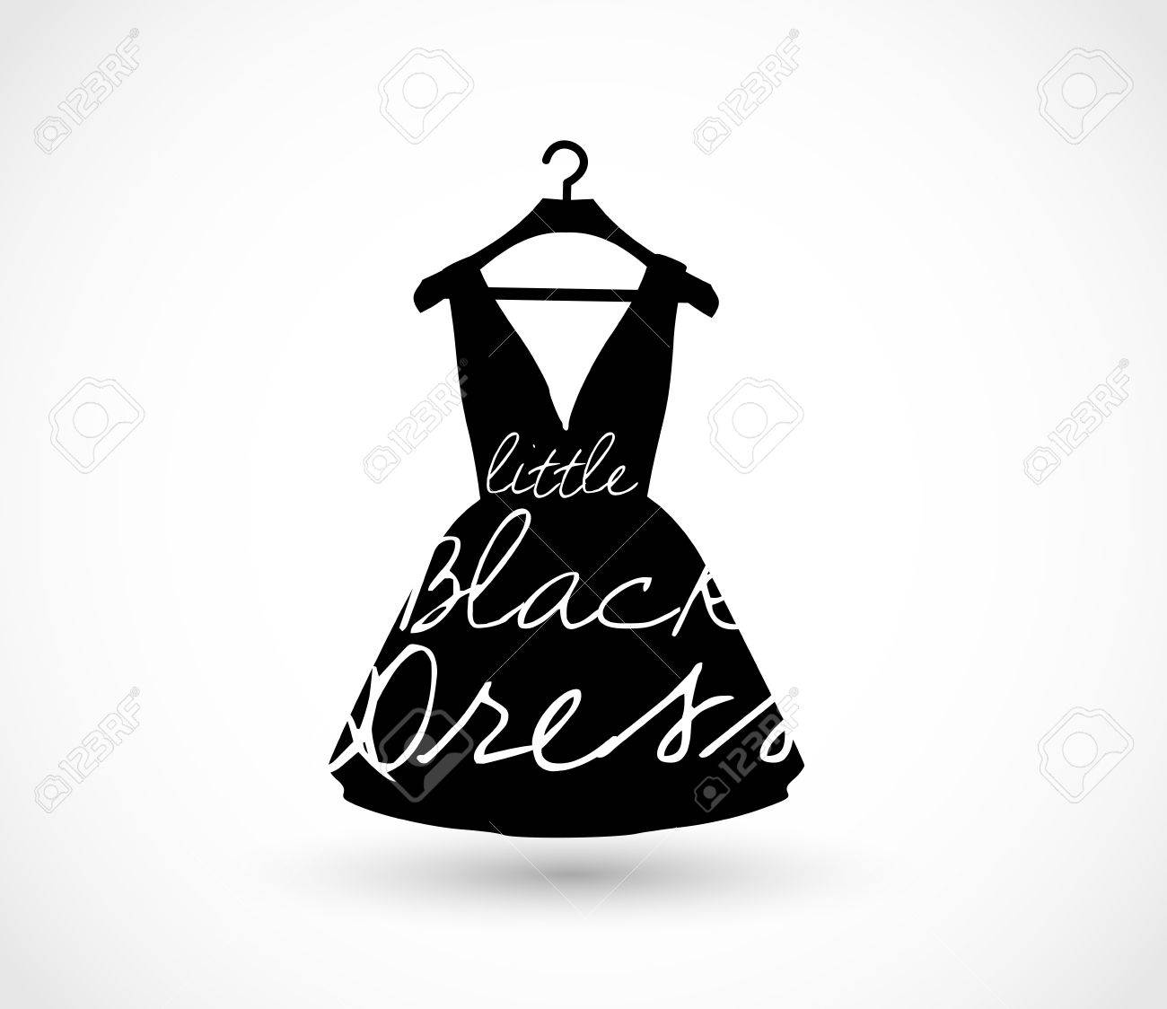 Little black dress on a hanger icon vector.