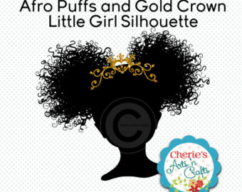 Afro puffs hairstyle.