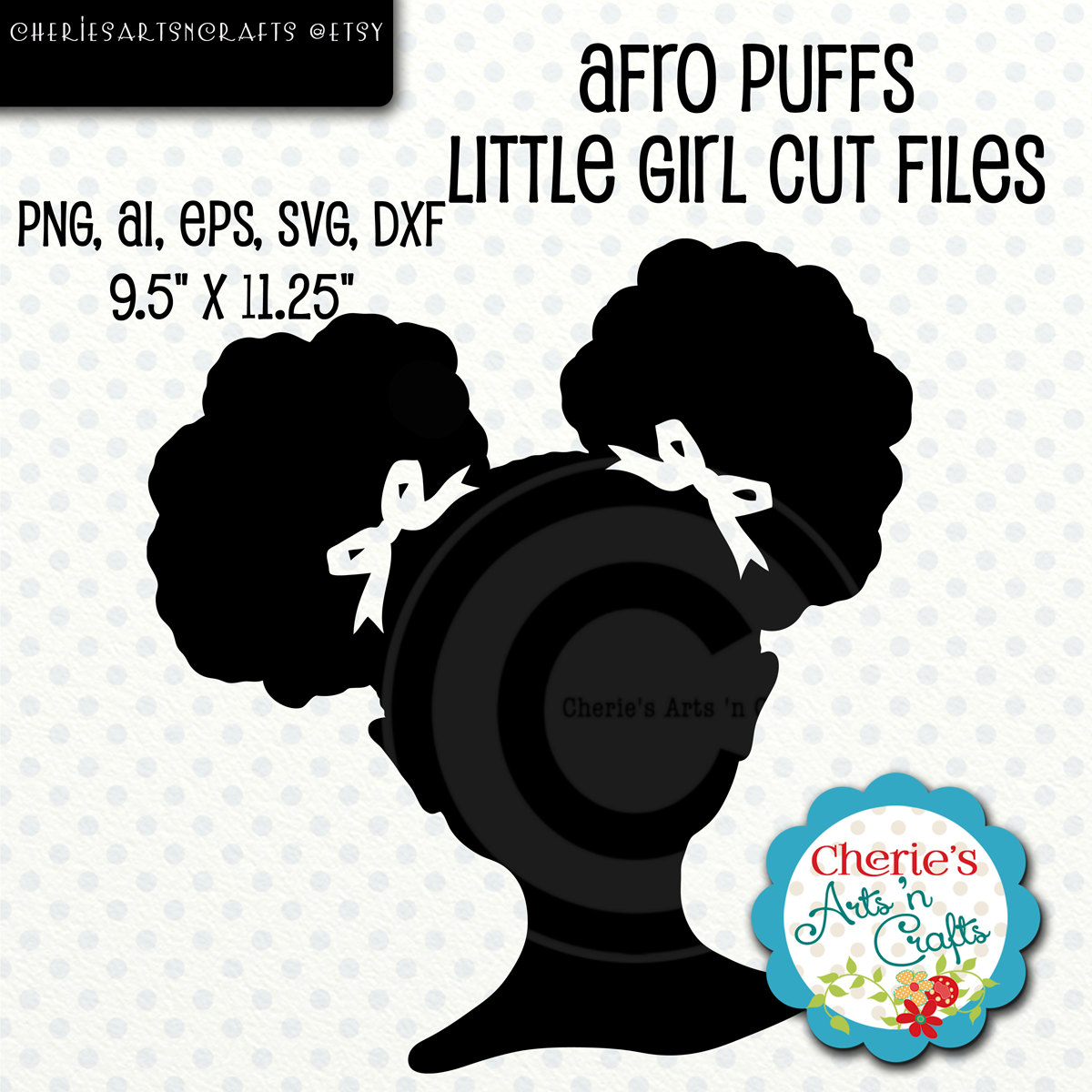 Afro puff.
