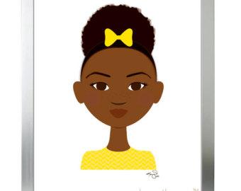 Afro puffs girl.