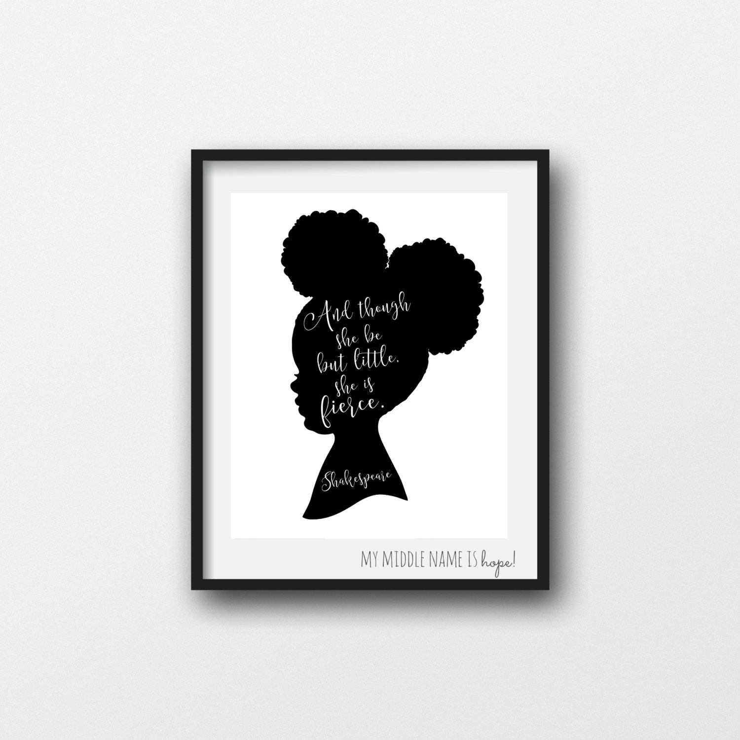 Little Black Girl Afro Puffs Silhouette Clipart Clipground