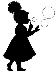 Little Girl Silhouettes, African American Girl Silhouettes.