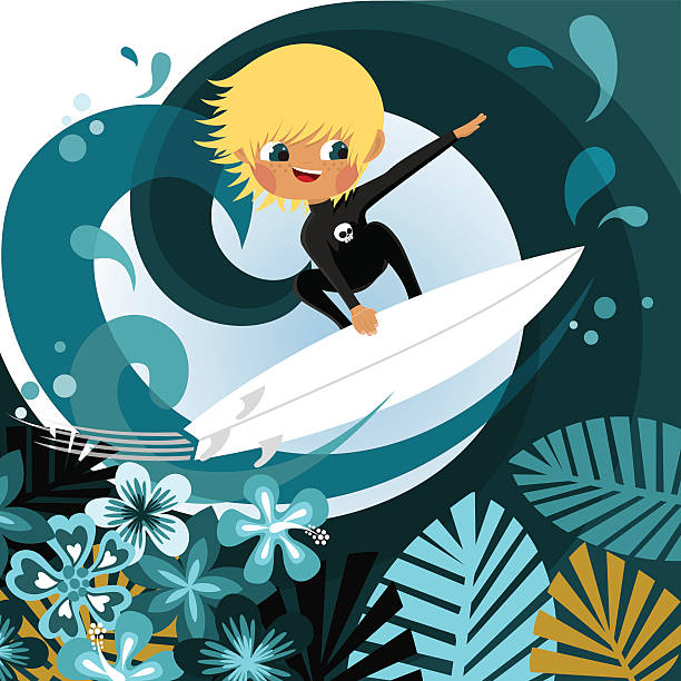 Background Of The Blonde Boys Clip Art, Vector Images.