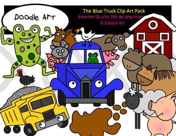 Little Blue Truck Clipart.