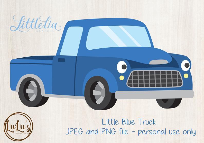 Little Blue Truck Clip Art.