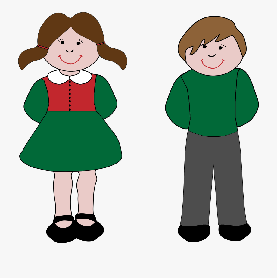 Little Boy And Girl Clipart At Getdrawings.