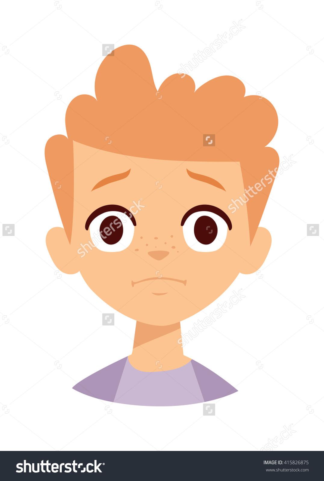 little boy head clipart #7