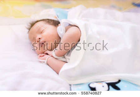 Infant Sleeping Stock Images, Royalty.
