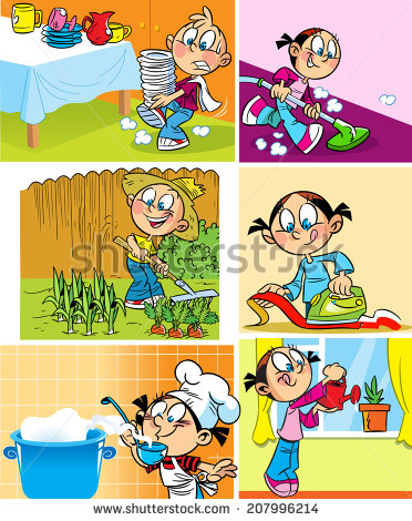 Doing Dishes Stock Images, Royalty.