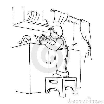 Boy Washing Dishes Clipart (62+).