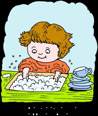 Doing Dishes Clipart#1919761.