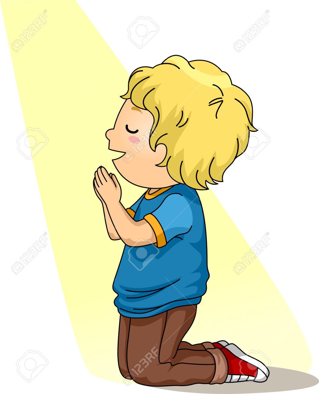 Little Boy Praying Clipart.