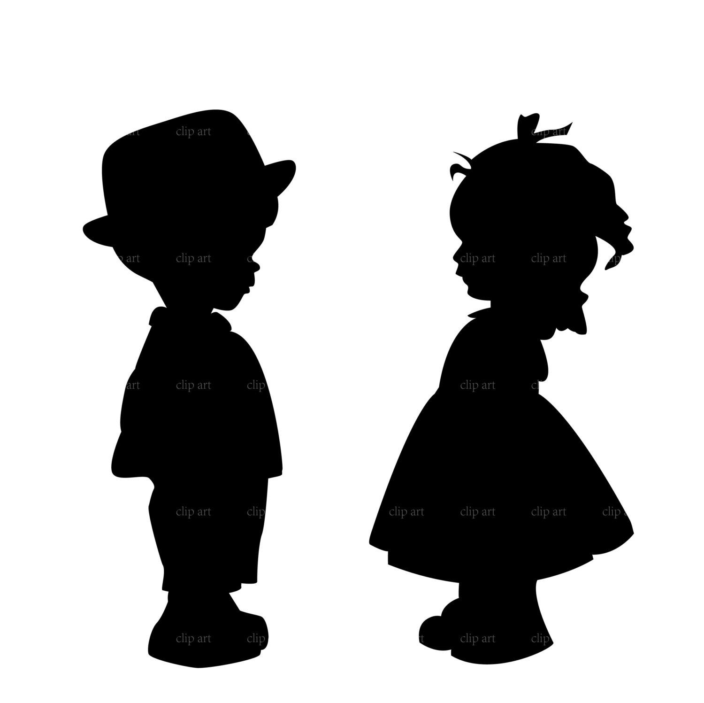 Little Boy Silhouette Clip Art.