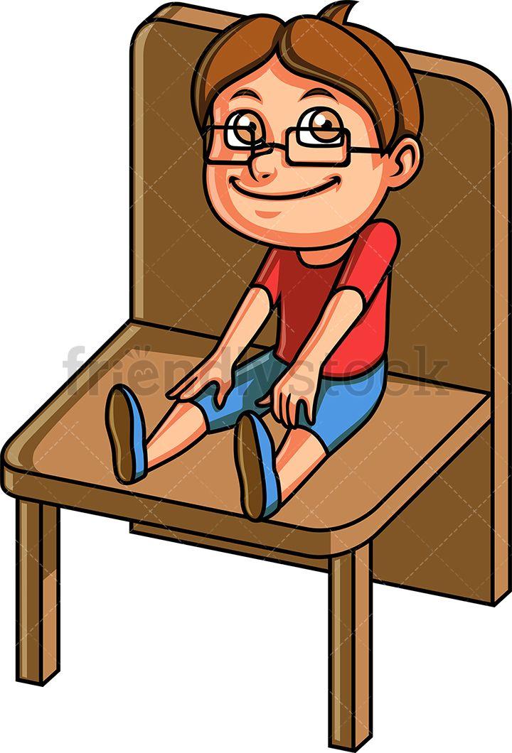 Little Boy Sitting On A Chair in 2019.