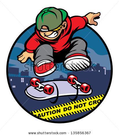 Skater Boy Stock Images, Royalty.
