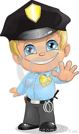 Police Boy Cliparts.