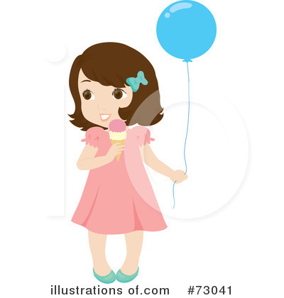 Little Girl With Brown Hair Clipart.
