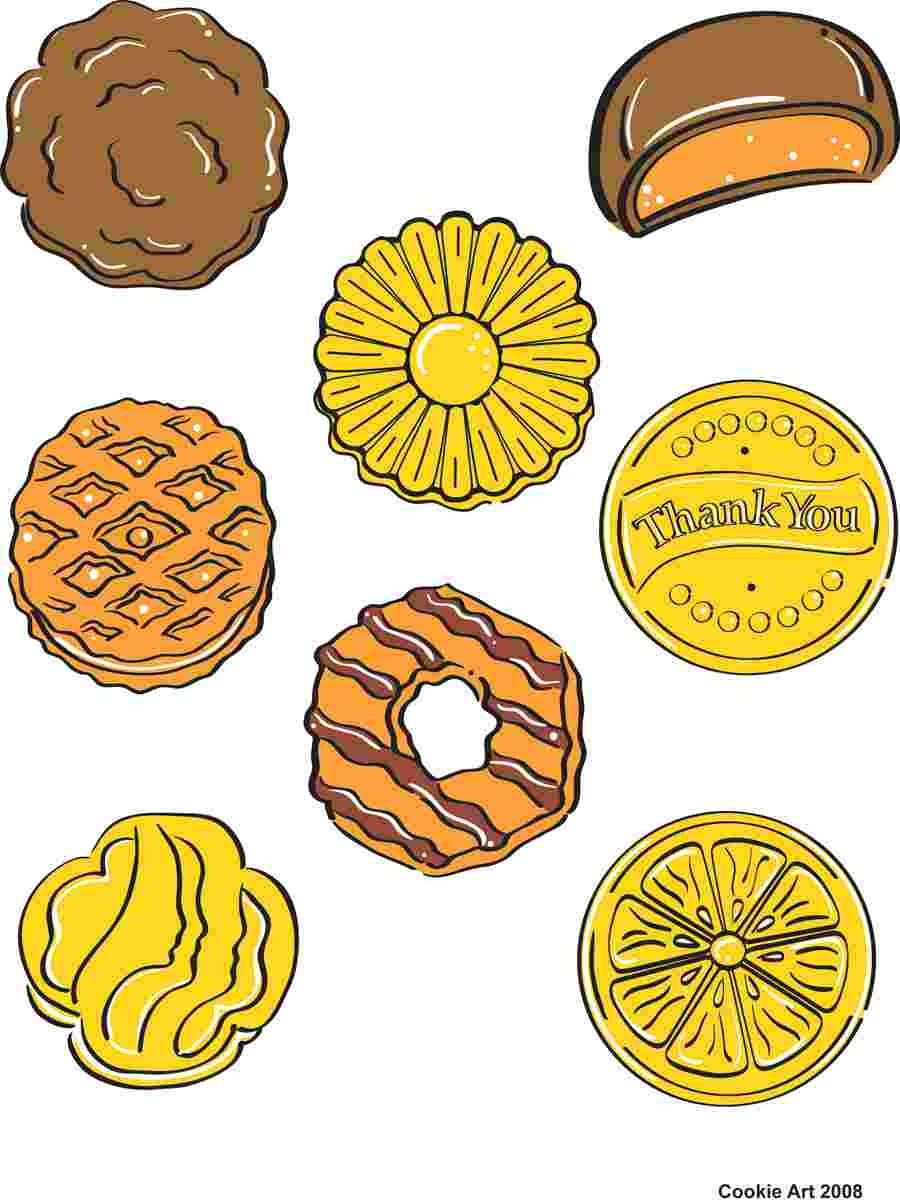 Cliparts Library: Clipart Girl Scout Cookie Cookies Clip Art.