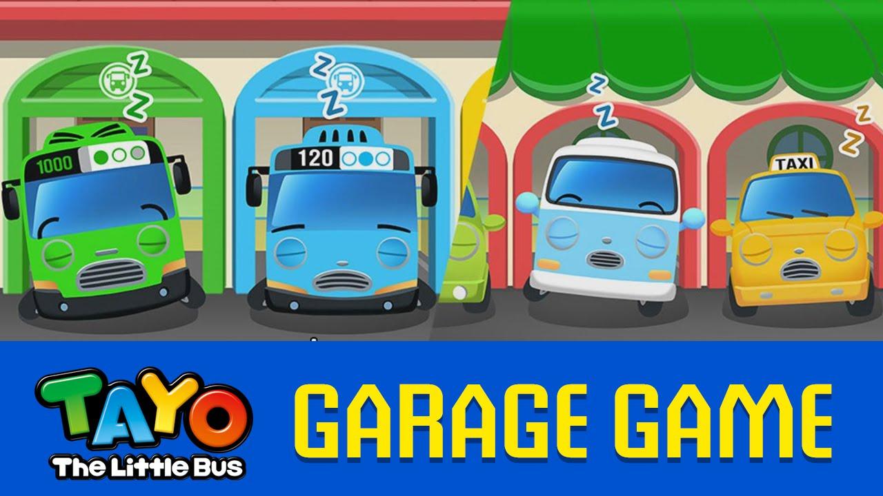 EN) Tayo Garage Game #01 Wake Up Game.