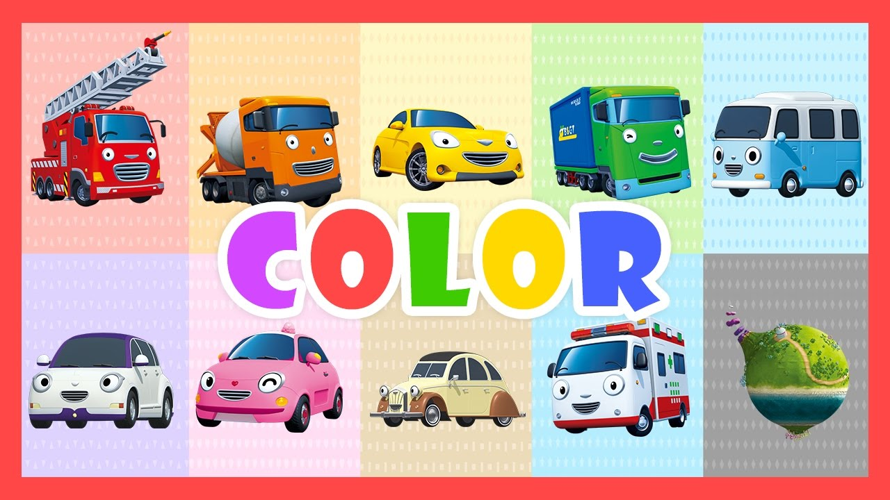 Color Song (60mins) l Learn colors with Tayo the Little Bus l.