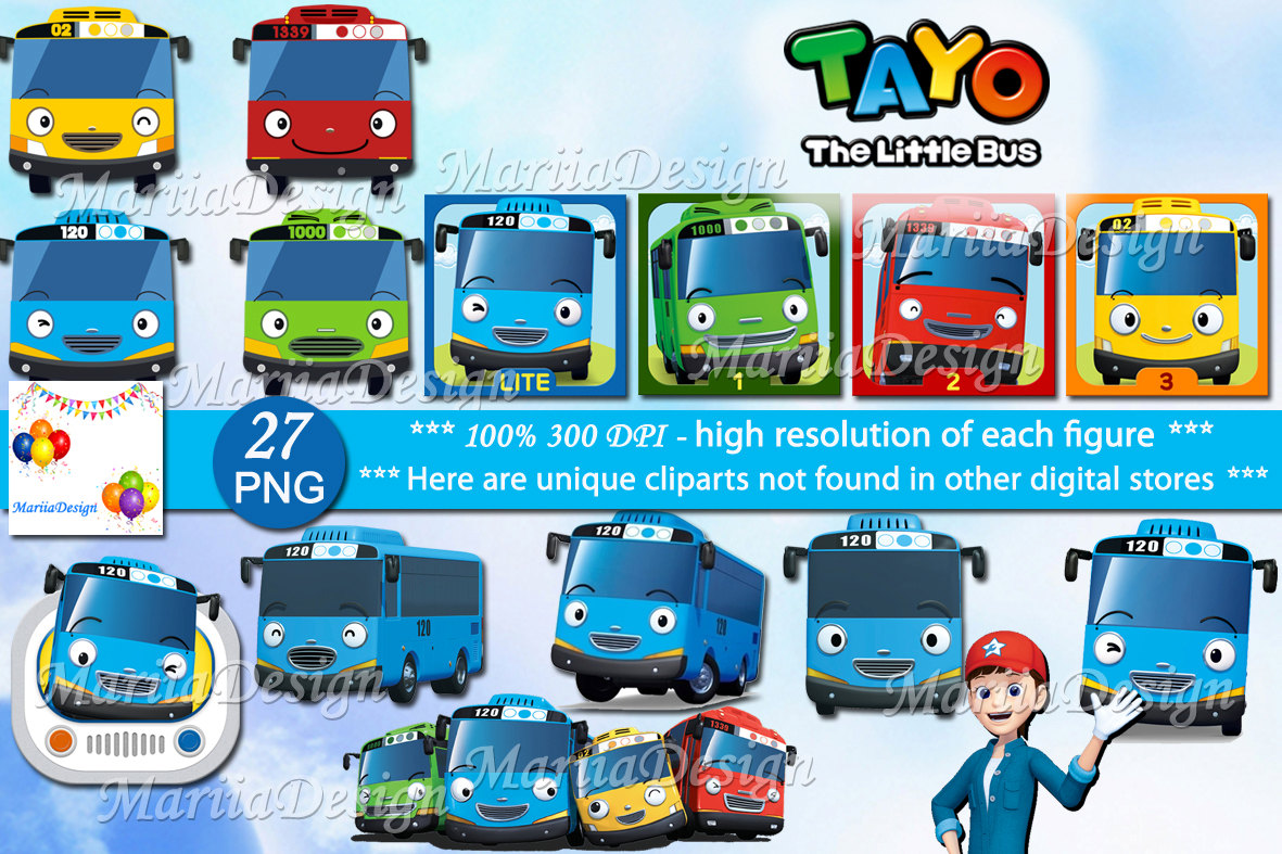 27 Tayo The Little Bus Clipart 27 PNG 300 Dpi Scrapbook.