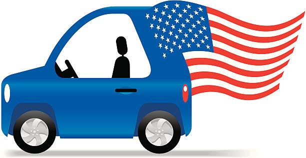 American Flag Car Clip Art, Vector Images & Illustrations.