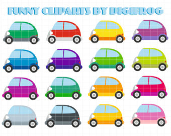Small cars 4, digital image, little car clipart, digital cars.