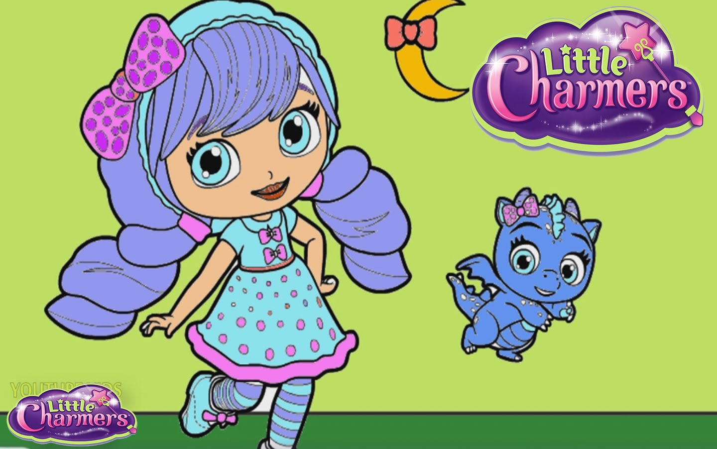 LITTLE CHARMERS Nickelodeon Little Charmers Color Episode.