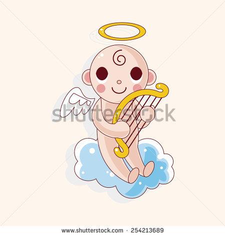 Cute Little Christmas Cartoon Angel Fairy Stock Vector 320132849.