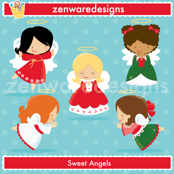 Description: Merry Christmas!!! These cute little Christmas angels.