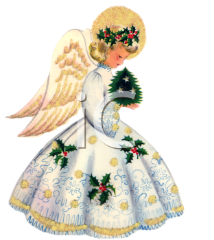 paintings of christmas angels.